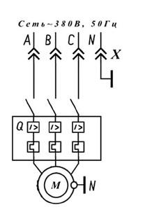 Насос для подачи пенобетона СОВ-4. Схема электрическая принципиальная.